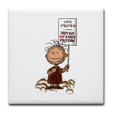 Pigpen: Not a Dirty Politician Tile Coaster for