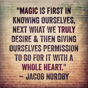This simple formula for real magic is a guide into clarity: