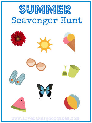 Click HERE for the Summer Scavenger Hunt Printable (8x10)