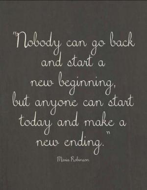 New beginning.