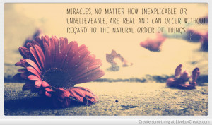 Miracles Quote Photo