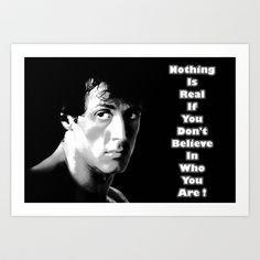 Rocky Balboa Art Print by ElvisTR #rocky #quote #believe
