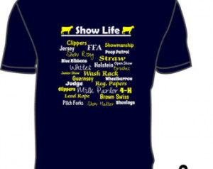 Dairy Show Life shirt with 4-H and FFA ...