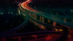 night freeway highway timelapse wallpaper background