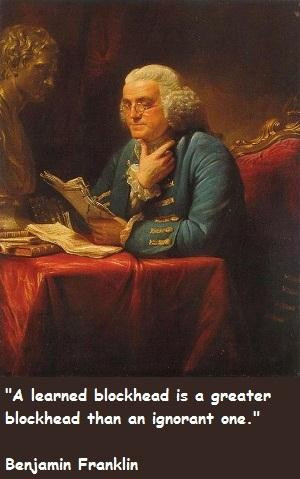 Famous painting of Benjamin Franklin.