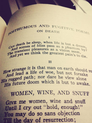 The Complete Poems of John Keats, quote On Death