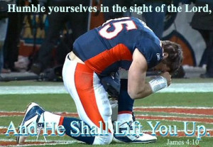 TIM TEBOW, JAMES 4-10, TEBOWING