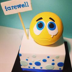 Farewell Cake for a Colleague leaving work today. I couldn't think ...