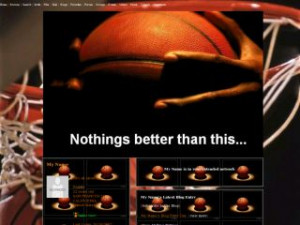 Inspirational Basketball Quotes - Basketball MySpace Layout Preview
