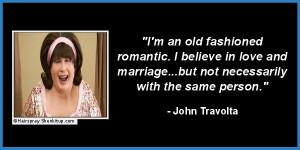 John Travolta makes perfect sense. As much sense as this guy .