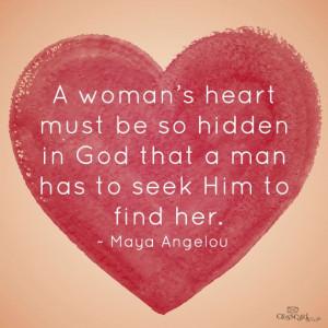 woman's heart must be so hidden...