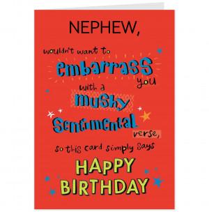 Funny Nephew Birthday Card-Hallmark UK