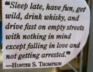 you said it. Esp the love & whiskey part