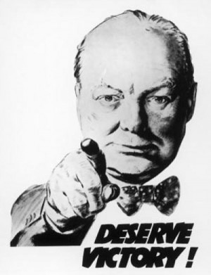 Winston Churchill says we 'Deserve Victory!' 1940 © Mary Evans ...