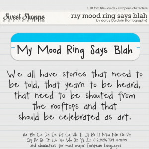 DJB Fonts: My Mood Ring Says Blah (euro) by Darcy Baldwin {fontography ...