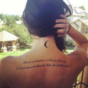 New beginnings- Crescent moon tattoo