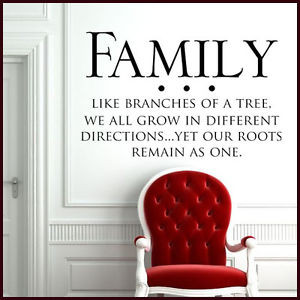 Details about **FAMILY TREE WALL STICKER HOME INSPIRATIONAL Wall Quote ...
