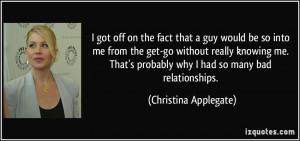 More Christina Applegate Quotes