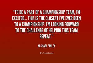 Part Of Being A Team Quotes