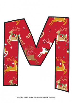 christmas letter m christmas letter m christmas letter m letter m with ...