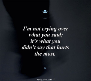 Emo Love Quotes I'm not crying over what you said It's what you ...