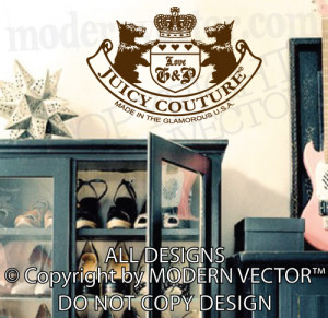 Details about JUICY COUTURE Vinyl Wall Decal Lettering Sticker Quote ...