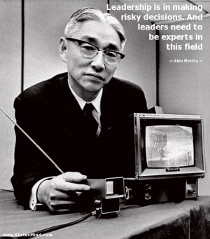 ... need to be experts in this field - Akio Morita Quotes - StatusMind.com