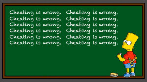 cheating is a bad thing but it isn t necessarily black and white ...