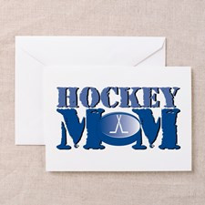 Hockey Mom Greeting Card for