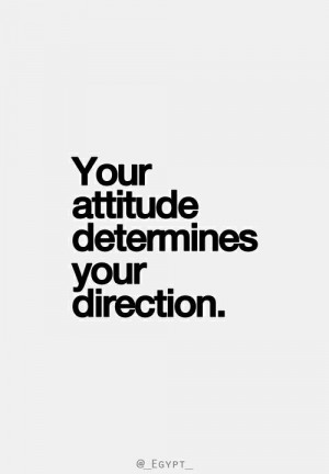 Its all in the attitude!!
