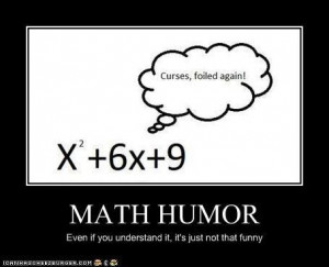 Math pun. The subtitle saying the pic isn't funny is what made it kind ...