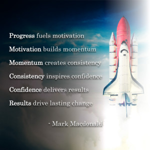 """Mark's Quote of the Week: """"Progress fuels motivation Motivation ..."""
