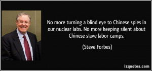 No more turning a blind eye to Chinese spies in our nuclear labs. No ...