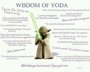 wisdom yoda star wars jedi funny quotes about life