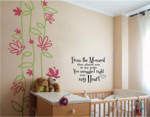 Inspirational Wall Words for Baby Boy or Girl Nursery Room