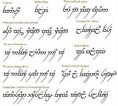 Phrase Translator For The Elvish Font Arabic Words Or Pictures