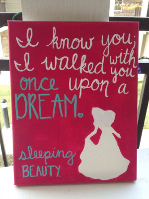 Sleeping Beauty Once Upon a Dream quote by LovePurpleLiveGold, $20.00
