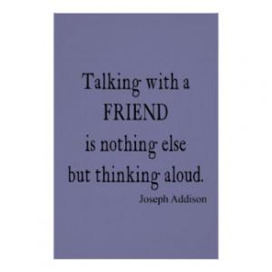 vintage purple lavender addison friendship quote print