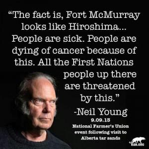 ... Neil Young as a villain rather than a seeker of a better way forward