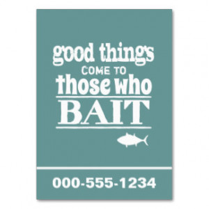 Good Things Come To Those Who Bait (fishing) Large Business Cards ...