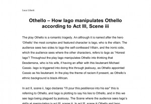explain iago manipulates roderigo act 2 scene 1 A summary of act ii, scene iii in william shakespeare's othello learn exactly  what  page 1 of 2  once othello is gone, iago enters and joins cassio on  guard.