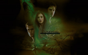 The Vampire Diaries Stefan, Elena and Damon