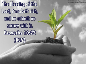 ... blessing of the Lord, it maketh rich, and he addeth no sorrow with it