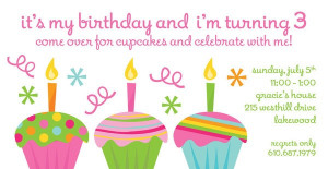 Cupcake birthday invitation by Kramer Drive   available at Salutations