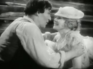 Walter Huston (looking like Patrick Troughton as Doctor Who) and Una ...