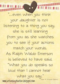of you. Honesty. This is so very true...and I am proud of my daughters ...