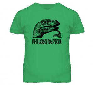 Philosoraptor Funny Dinosaur You Tube Quotes T Shirt