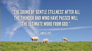The sound of 'gentle stillness' after all the thunder and wind have ...