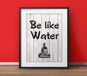 Lao Tzu - Be like water, Tao Te Ching, Tao quote, Yoga poster ...