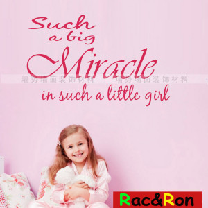 Miracle Little Inspirational Quotes Sticker